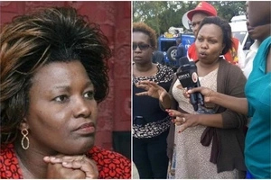 More DRAMA as Millicent Omanga storms Jubilee Headquaters to dispute Shebesh's victory