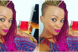 Kenyan volleyball queen gets a new mzungu man after breaking up with her husband(photos)