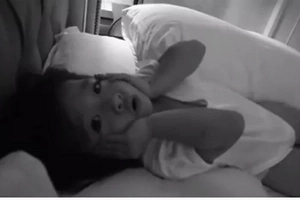 Netizens fall in love with Amarah's adorable performance before going to bed