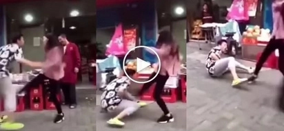 Hoy, gutom na ako! Angry girlfriend kicks boyfriend's balls 9 times for refusing to buy her fruits