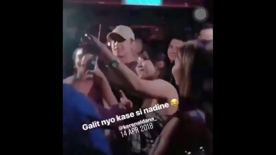 Video allegedly shows James Reid asking Nadine Lustre's help to get rid of fan taking selfie