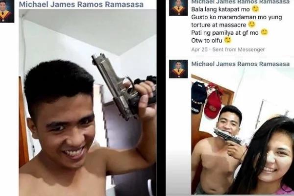Couple threatens a man online.