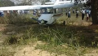 Light aircraft crash lands in a school compound