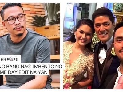 Famous photographer Jason Magbanua gets triggered by netizen who bashed same day edit wedding videos: 'Y am I triggered? Mahal ko industriya ko.'