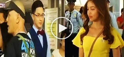 Watch Alden Richards and Maine Mendoza visit crowded LRT station!