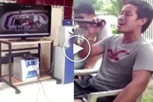 Kantahan habang nagiinuman! You will definitely love this guy. Worth watching!