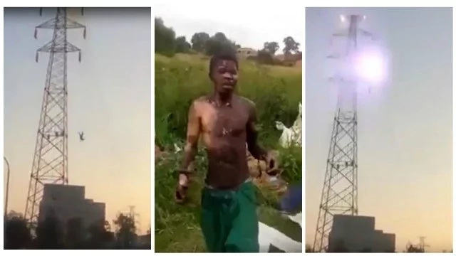 Indestructible! Man hit with 30,000 volts of electricity, falls to the ground and survives (photos, video)