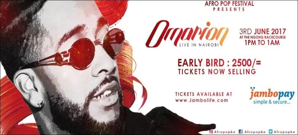 R&B superstar OMARION brings 'Distance' to the Ngong Racecourse this June