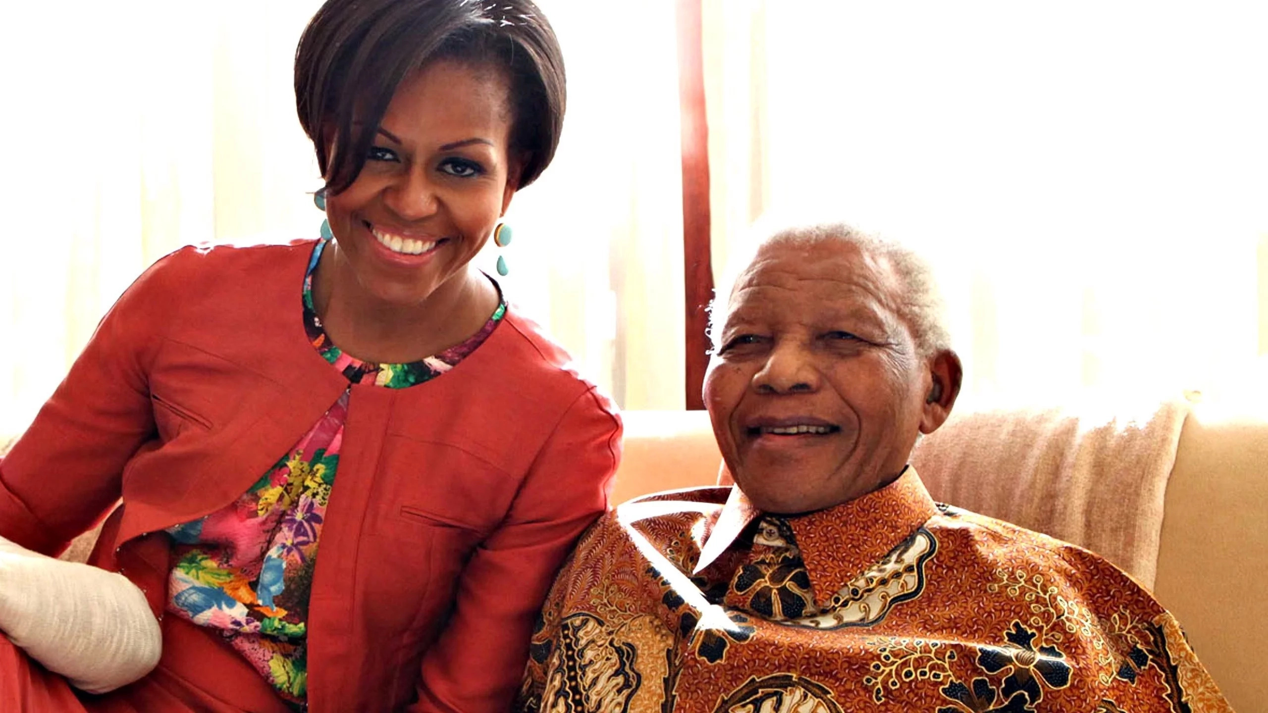 Michelle Obama also met Mandela in 2011. Photo: New York Daily News