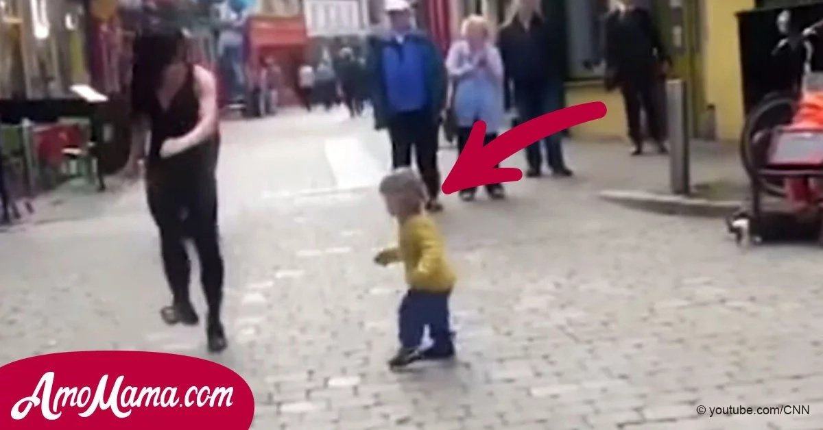 A Street Dancer Performed An Irish Dance, But Suddenly A Little Girl Joined Her And Showed How To Really Dance!