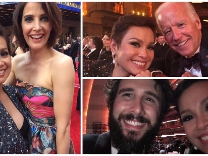Selfies with the stars! Top 5 #selfie photos that Lea Salonga took during the 2017 Tony awards.