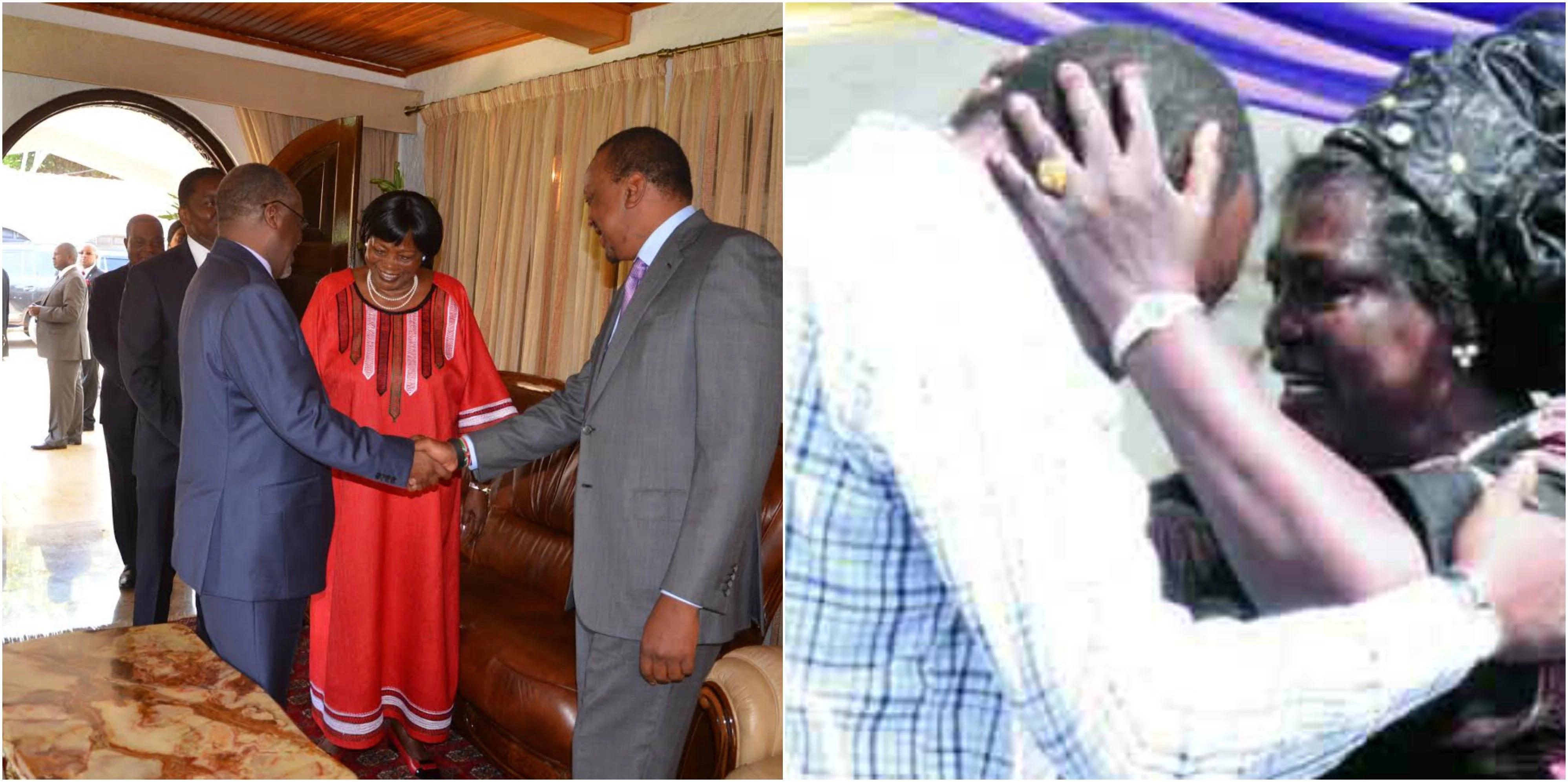 Beautiful photos of President Uhuru Kenyatta with his mother, Mama Ngina