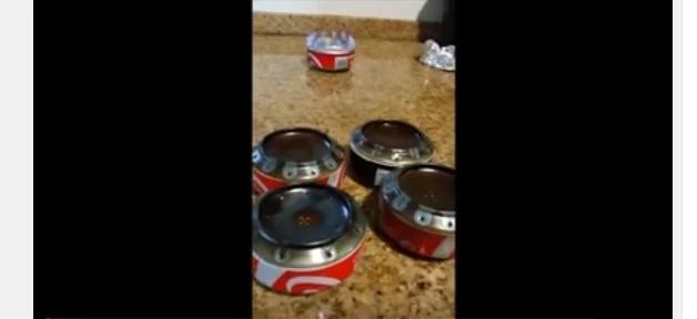 Tomó una lata de soda e hizo un desayuno completo sin luz y sin gas
