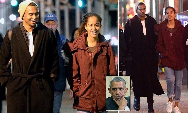 "Obama's daughter spotted enjoying night time with handsome MYSTERY ""friend"" (photos)"