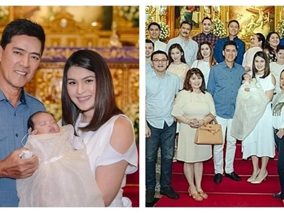 Ganda ni Mommy Pauleen! Photos from the baptism of Vic Sotto and Pauleen Luna's baby Talitha