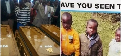 Sadness as politician's family and friends gather for last respect before burying kids brutally put to death