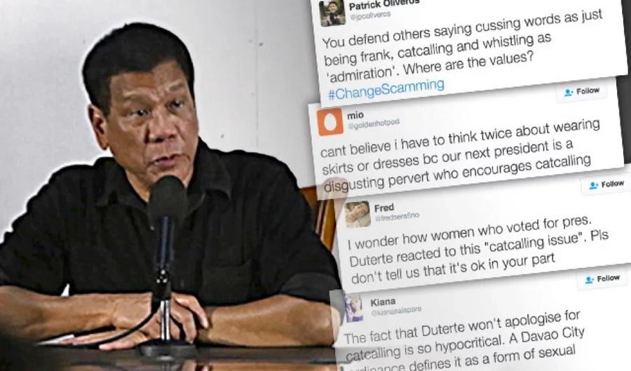 President Rodrigo Duterte Continues to Disrespect Women
