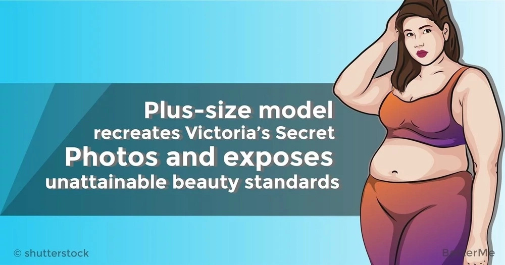 Plus-size model recreates Victoria's Secret Photos and exposes unattainable beauty standards
