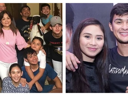 Welcome na welcome sa pamilya! Sarah Geronimo joins Christmas party of Matteo Guidicelli's family