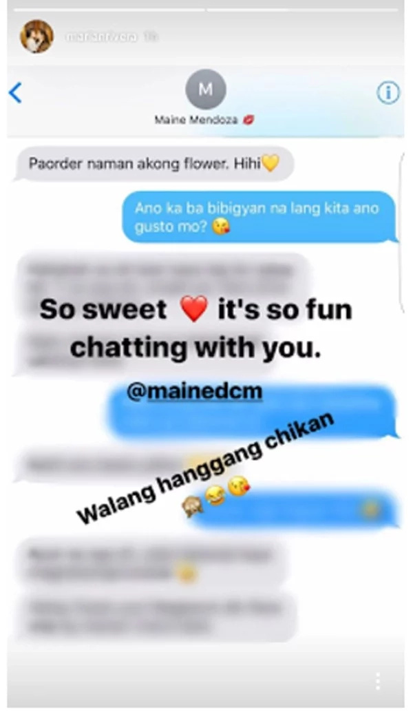 Marian Rivera sweetly responds to Maine Mendoza's order for flowers