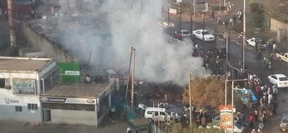 Fire In Westlands Market, See Pictures Of The Blaze