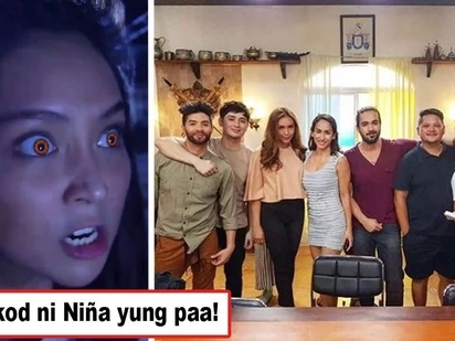 Minulto ba ang cast ng La Luna Sangre? Netizens shaken after noticing creepy leg of an alleged ghost appearing behind Niña Dolino in LLS cast photo
