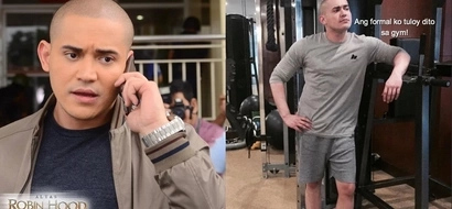 Okay na sana eh! Paolo Contis hits the gym in his unexpectedly stylish getup due to his forgetfulness