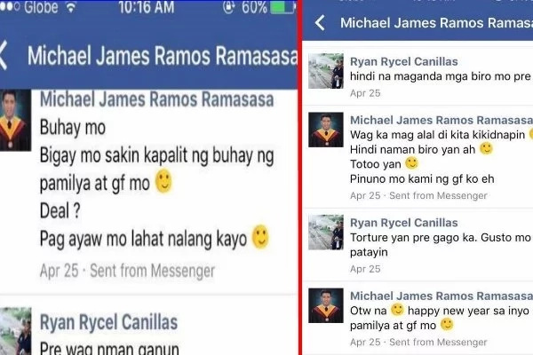 Attention PNP And PCCR! This Boastful Student Threatens A Man And Proudly Shows Off A Gun On Social Media