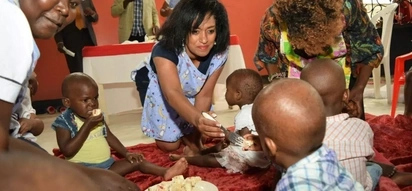Esther Passaris shuns Mashujaa day celebrations to spend the day with ailing children