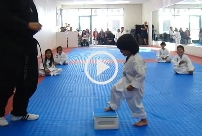 VIDEO: This kid gained his Taekwondo white belt for being too cute