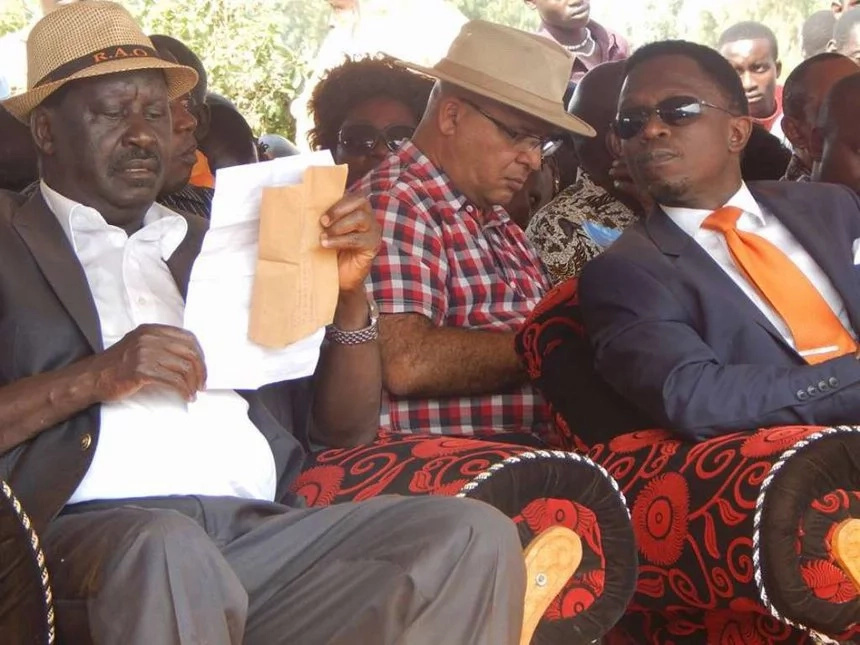 Ababu Namwamba's best moments with Raila Odinga (photos)