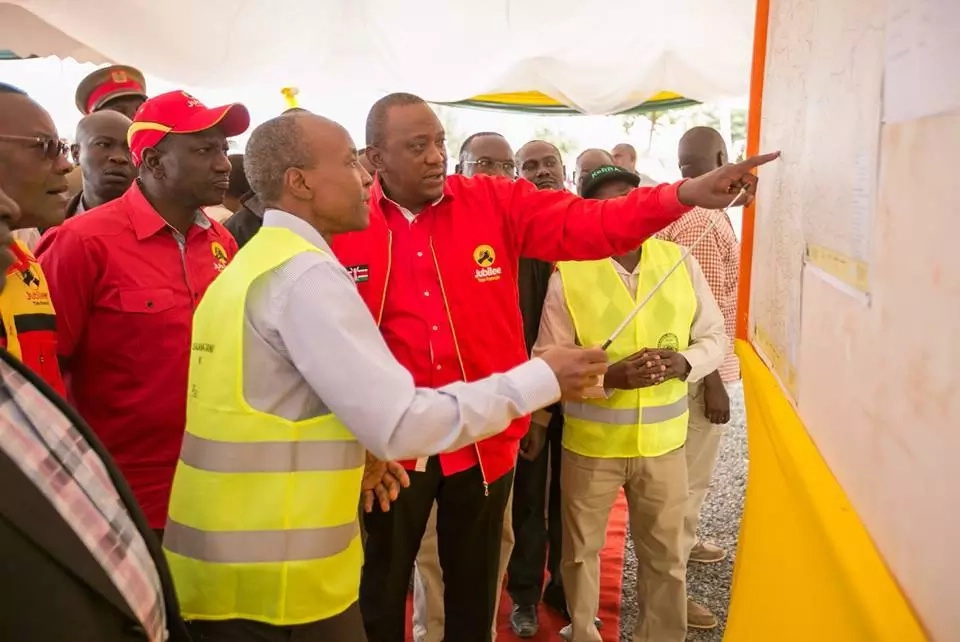 This is where Uhuru was as Raila invaded his Kiambu stronghold(photos)