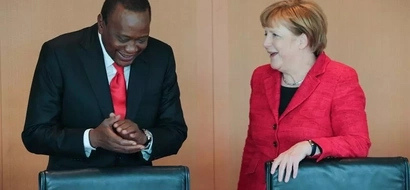 Photos: How Uhuru was received in Germany by Chancellor Angela Merkel