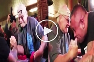 May himala! 70-year-old man defeats enormous bodybuilder in epic arm wrestling match