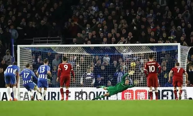 Five-star Liverpool maul Brighton 5-1, to go fourth on the table
