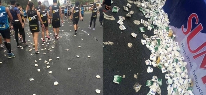 Disappointed netizen shares how runners left garbage on the streets during Earth Day Run