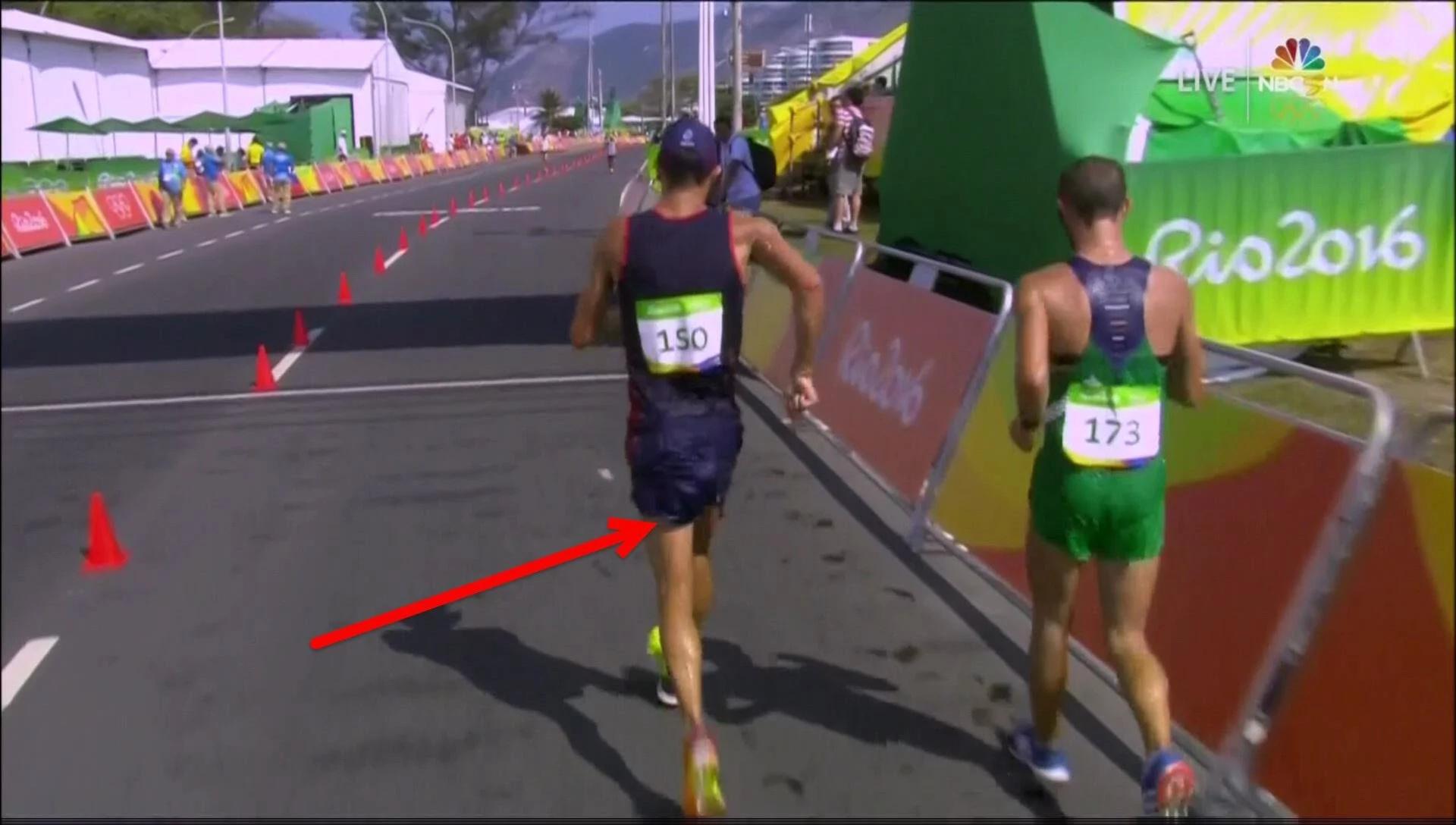 Yohann Diniz poops on himself during the 50km walk race