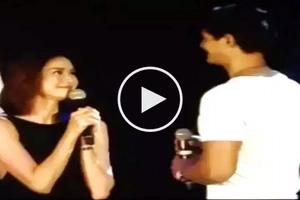 Kinilig ang fans! Watch Daniel Matsunaga kiss Erich Gonzales onstage in California