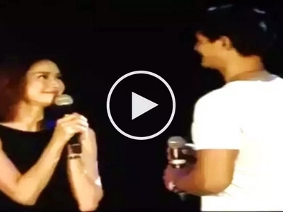 Sweet na ulit! Watch Daniel Matsunaga kiss Erich Gonzales onstage in California