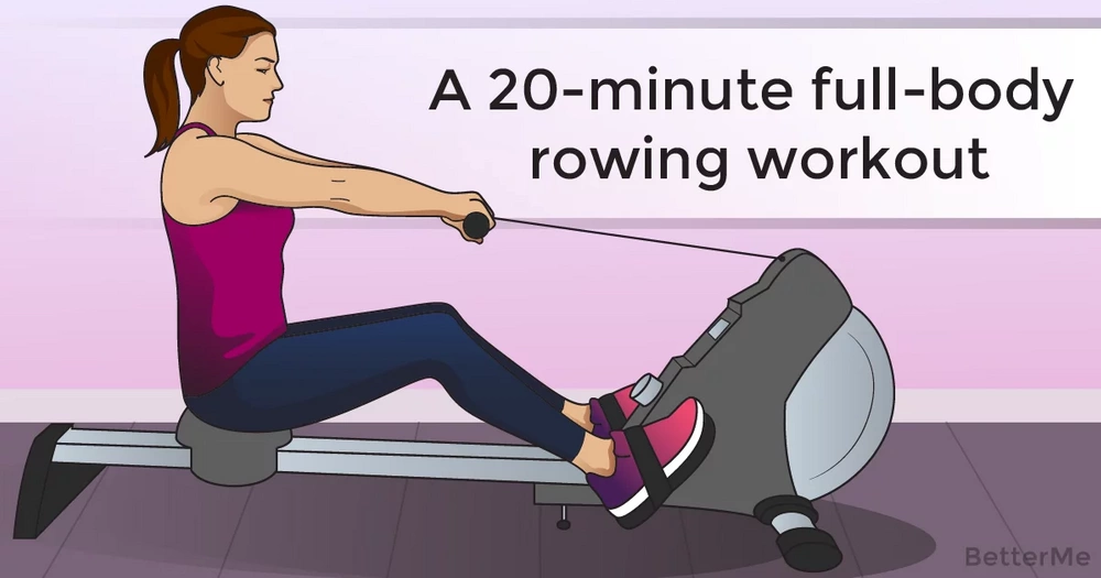 A 20-minute full-body rowing workout