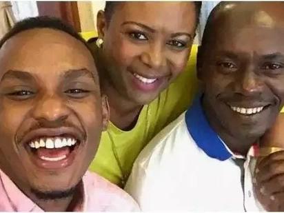 Mwanawe Kabogo ajivinjari na mjukuu wa kike wa Moi, ng'ambo (picha)