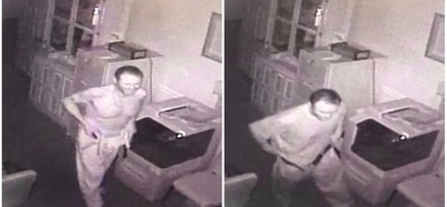 Bizarre! Man caught on video stealing and wearing dead man's clothes at funeral home