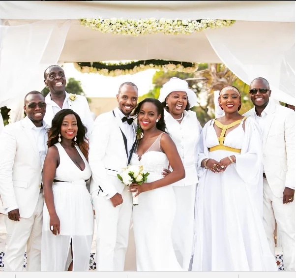 Simple Wedding Gowns In Kenya: Checkout Top 5 Kenyan Celebrity Weddings Of 2016 (Photos
