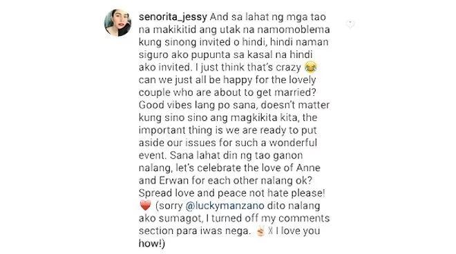 """Jessy Mendiola hits back at bashers: """"Hindi naman siguro ako pupunta sa kasal na hindi ako invited"""""""