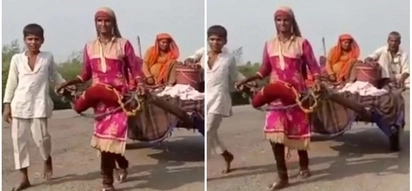 2 teenage girls were forced to pull cart for 7 days after their mule was stolen