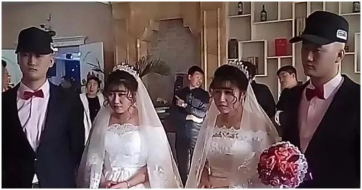 Seeing double? Identical twin brothers marry identical twin sisters in rare wedding ceremony