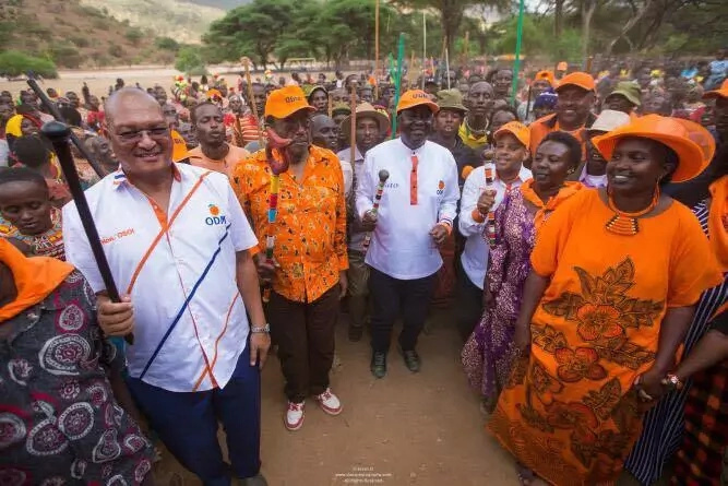 Raila Odinga CHARMS Samburu residents as ODM primaries kick off