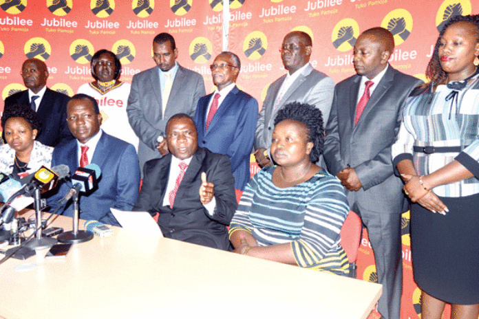 Jubilee changes TACT in their nomination processes, details