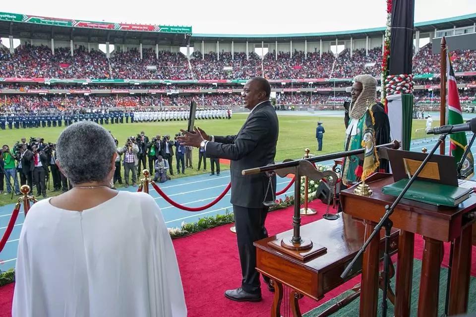 First Lady Margaret Kenyatta slays with her super fashion sense at Uhuru's swearing-in