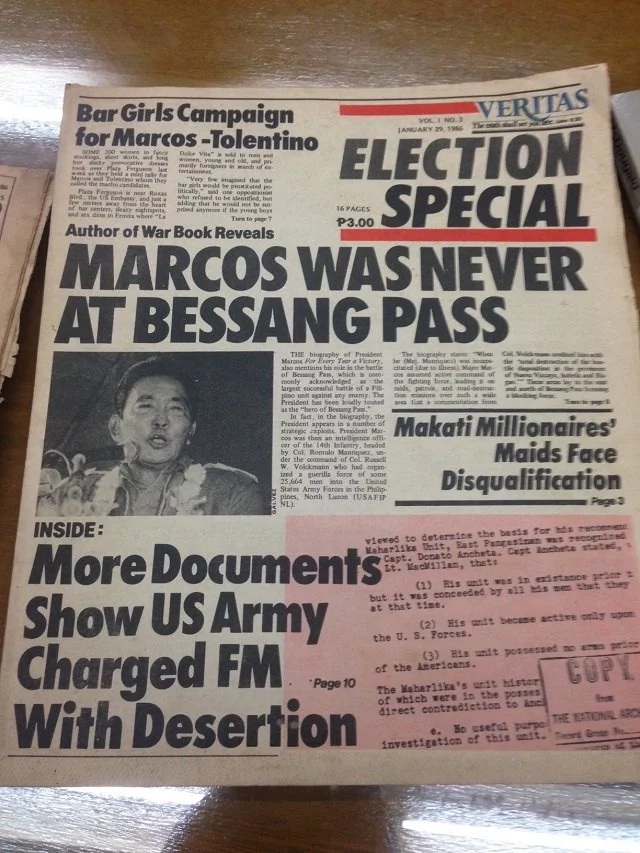 Marcos claims war veteran's victory as his own